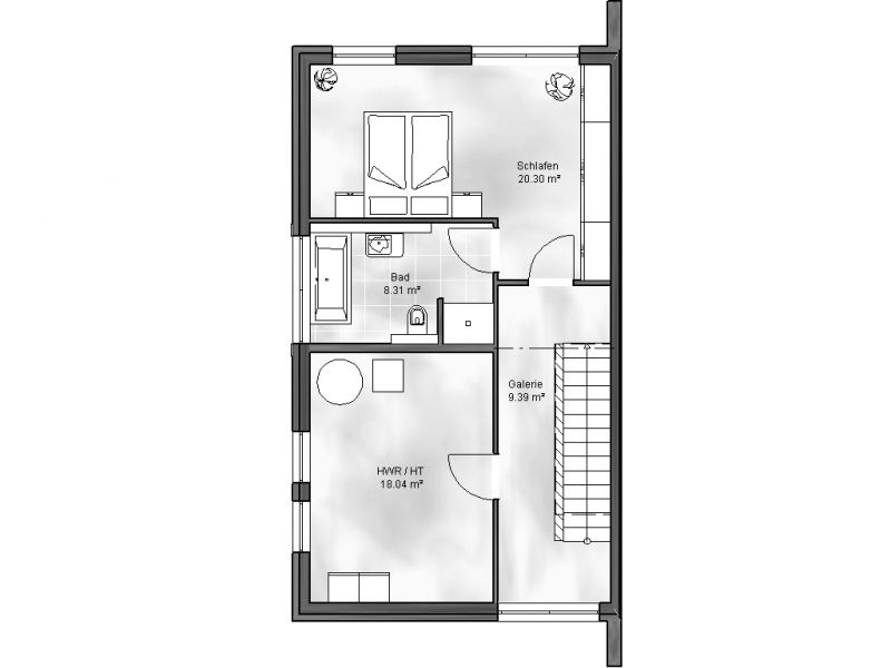 doppelhaus 2. Black Bedroom Furniture Sets. Home Design Ideas