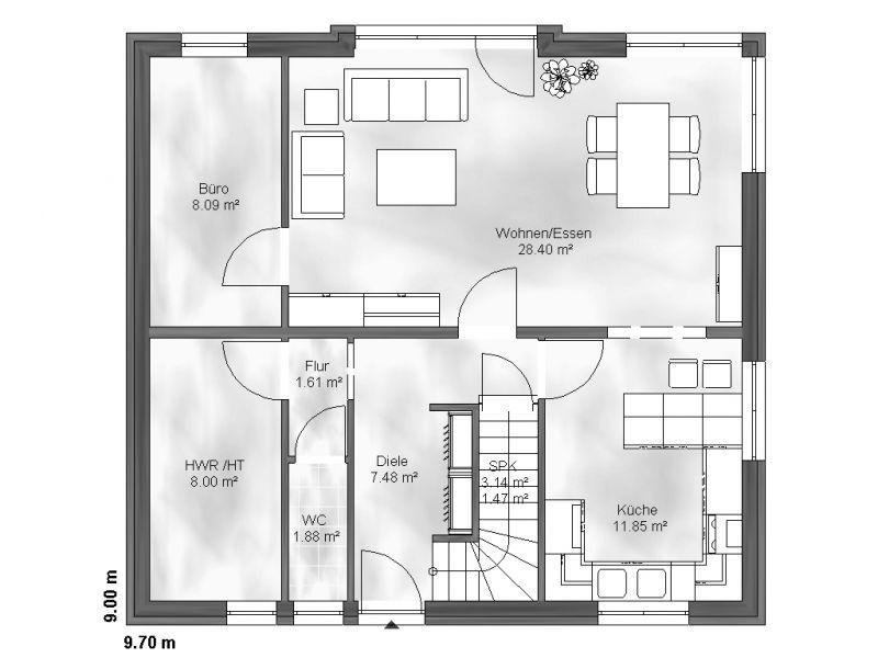 einfamilienhaus hannah. Black Bedroom Furniture Sets. Home Design Ideas