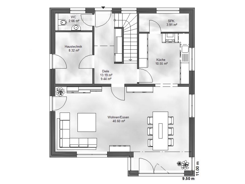 einfamilienhaus julia. Black Bedroom Furniture Sets. Home Design Ideas